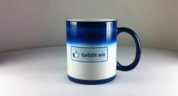 Facebook - Gefällt mir Tasse / Becher mit Thermoeffekt