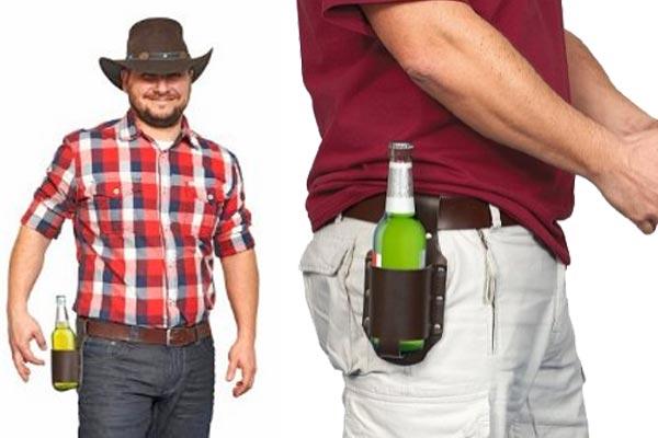 Bier Holster - Gürtelhalterung für Getränke Dosen oder Flaschen