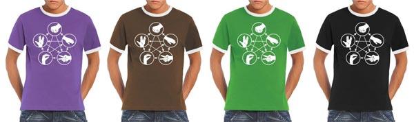 Big Bang Theory - Stein Schere Papier Echse Spock - T-Shirt
