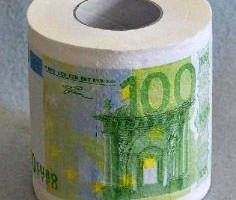 Toilettenpapier 100 Euro Geldschein Klopapier