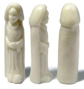 Stück Seife in Penisform