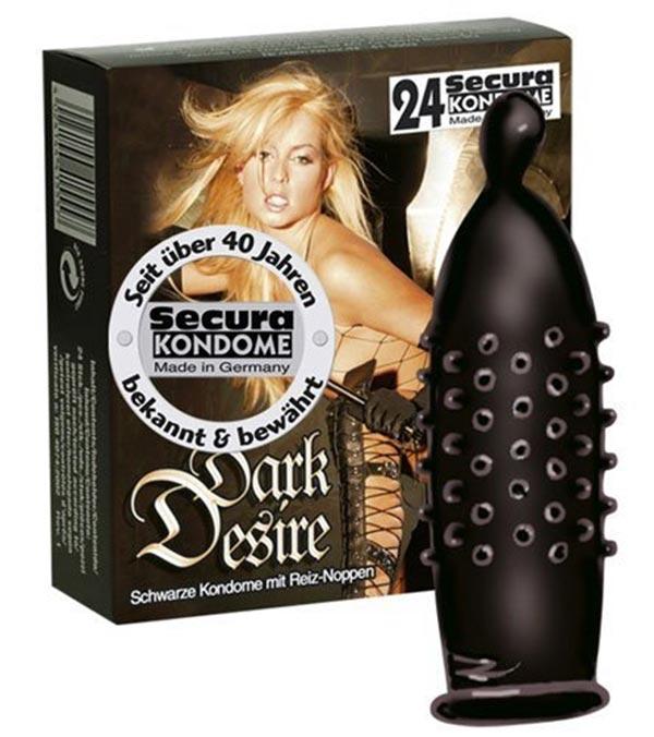 Secura Dark Desire Noppen-Kondom