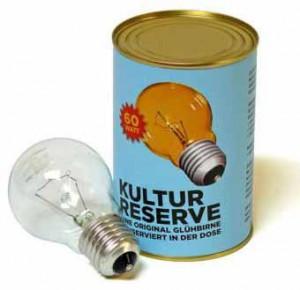 Kultur Reserve - Glühbirne in der Dose