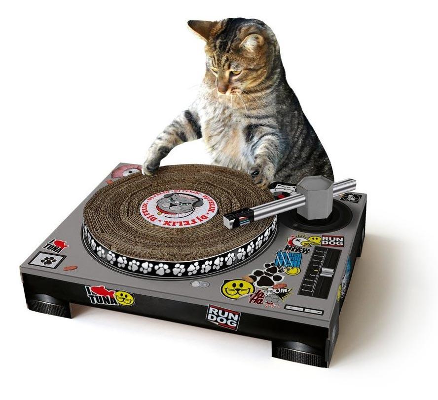 Kratzmatte DJ Pult / Plattenspieler für Katzen