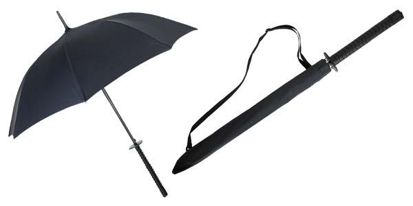 Regenschirm in Samurai-Schwert-Form