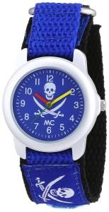 MC Kinder-Piraten-Armbanduhr Klettband