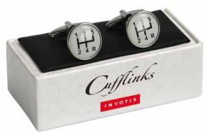 Manschettenknöpfe im Gangschaltungs-Design von Invotis
